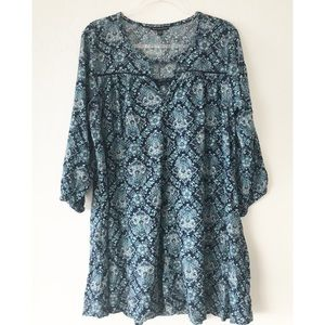 America Eagle Outfitters Long sleeve paisley dress